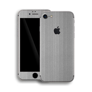 iPhone 8 Brushed Metal Steel Skin, Wrap, Decal, Protector, Cover by EasySkinz | EasySkinz.com