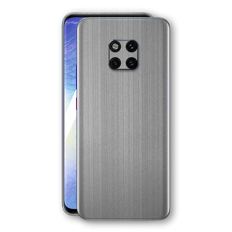Huawei MATE 20 PRO Premium Brushed STEEL Metallic Metal Skin, Decal, Wrap, Protector, Cover by EasySkinz | EasySkinz.com