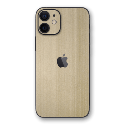iPhone 12 Brushed Metal Champange Gold Skin, Wrap, Decal, Protector, Cover by EasySkinz | EasySkinz.com