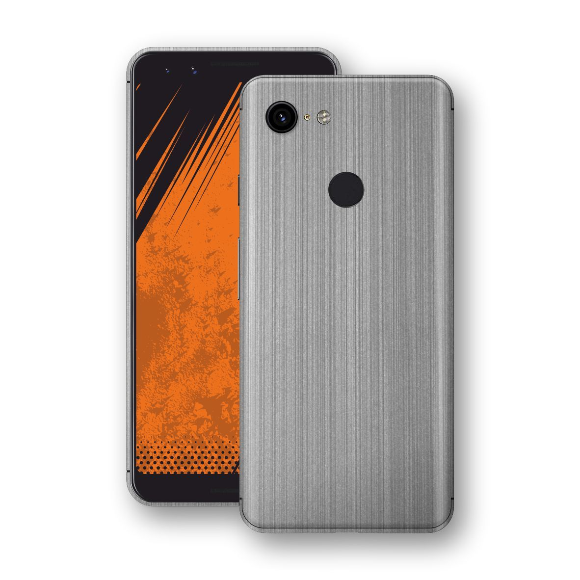 Google Pixel 3 Premium Brushed STEEL Metallic Metal Skin, Decal, Wrap, Protector, Cover by EasySkinz | EasySkinz.com