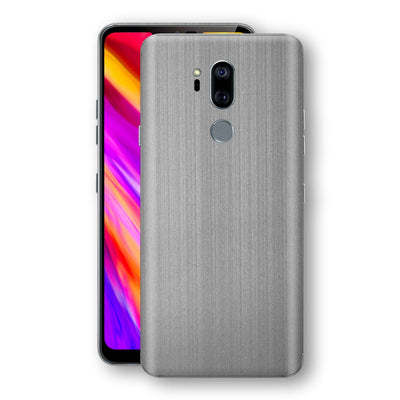 LG G7 ThinQ Premium Brushed STEEL Metallic Metal Skin, Decal, Wrap, Protector, Cover by EasySkinz | EasySkinz.com