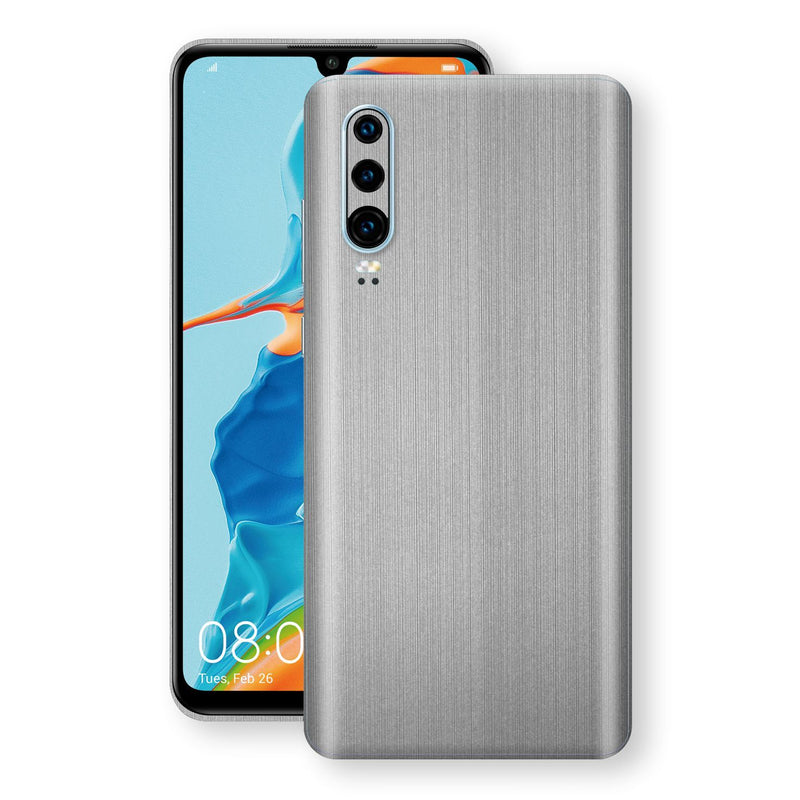 Huawei P30 Premium Brushed STEEL Metallic Metal Skin, Decal, Wrap, Protector, Cover by EasySkinz | EasySkinz.com
