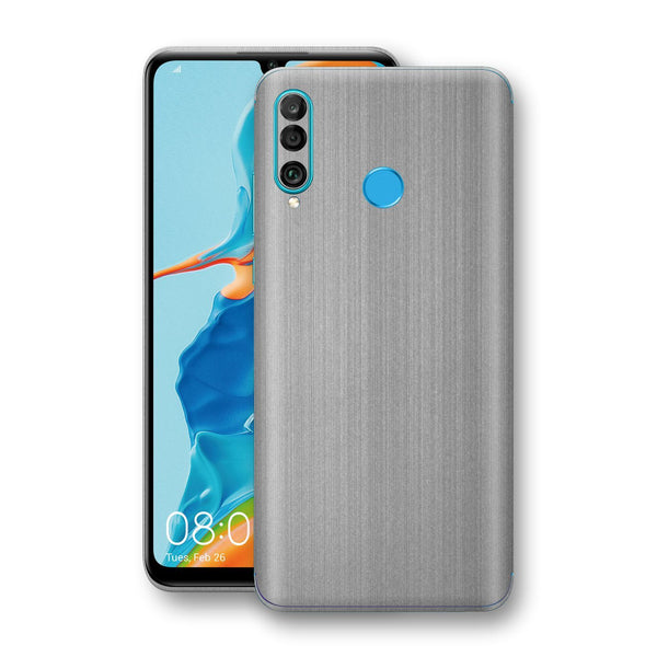 Huawei P30 LITE Premium Brushed STEEL Metallic Metal Skin, Decal, Wrap, Protector, Cover by EasySkinz | EasySkinz.com