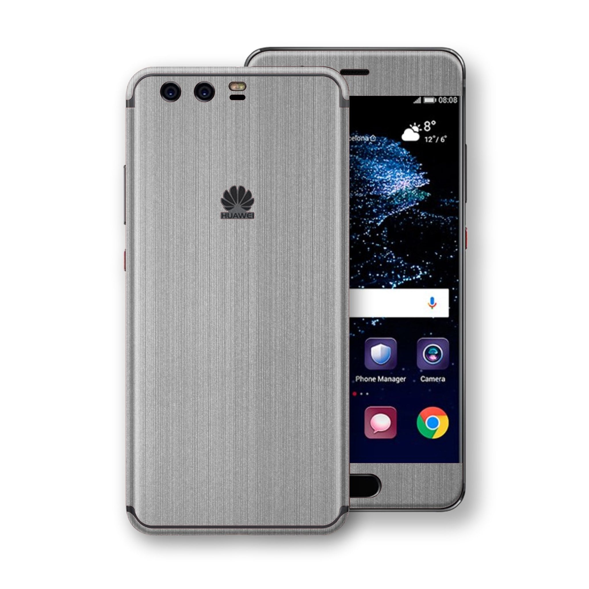 Huawei P10 Premium Brushed STEEL Metallic Metal Skin, Decal, Wrap, Protector, Cover by EasySkinz | EasySkinz.com