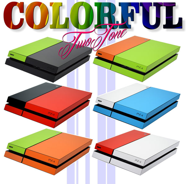 colorful ps4 two tone skin