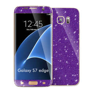 Samsung Galaxy S7 EDGE DIAMOND PURPLE Skin Wrap Decal Sticker Cover Protector by EasySkinz