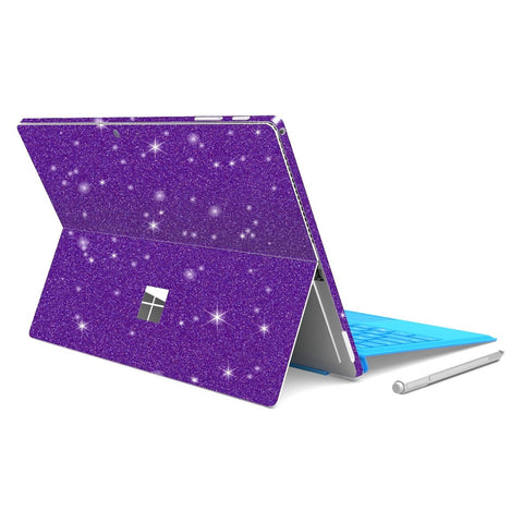 Microsoft Surface PRO 4 Diamond Purple Shimmering Glitter Skin Wrap Sticker Decal Cover Protector by EasySkinz