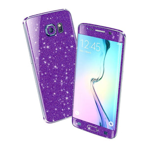 Samsung Galaxy S6 EDGE DIAMOND PURPLE Shimmering Sparkling Glitter Skin Wrap Sticker Cover Decal Protector by EasySkinz