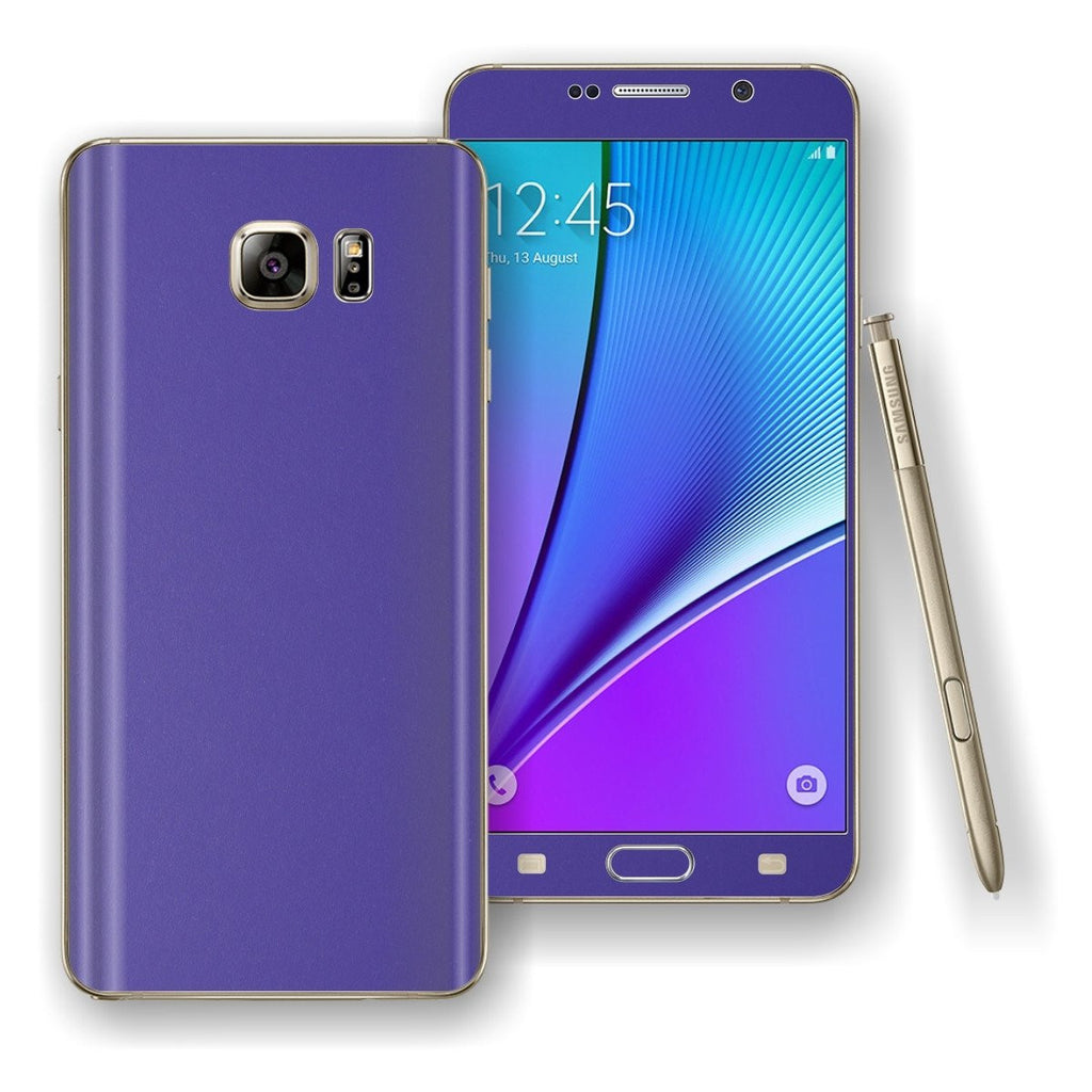 Samsung Galaxy NOTE 5 3M Royal Purple Matt Skin Wrap Decal Cover Protector by EasySkinz