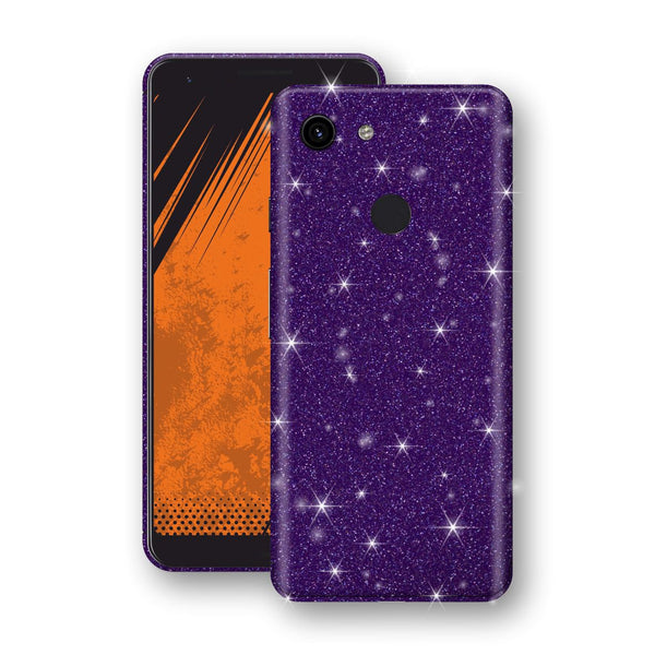 Google Pixel 3a Diamond Purple Shimmering, Sparkling, Glitter Skin, Decal, Wrap, Protector, Cover by EasySkinz | EasySkinz.com