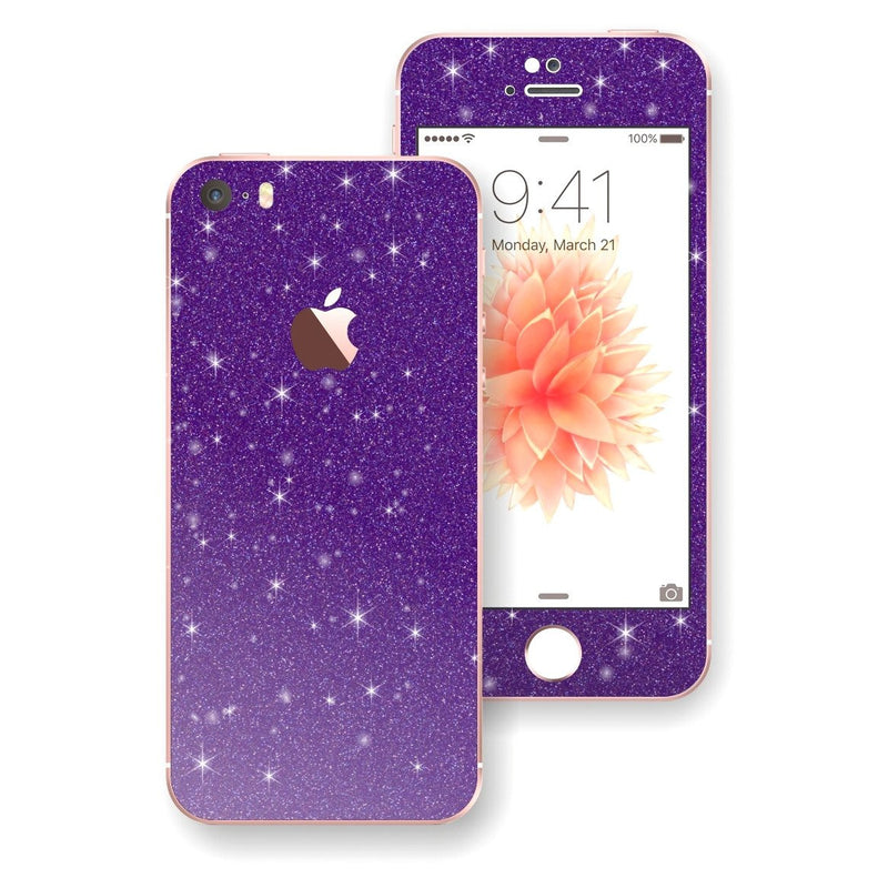 iPhone SE Diamond Purple Skin Wrap Decal Sticker Protector Cover by EasySkinz