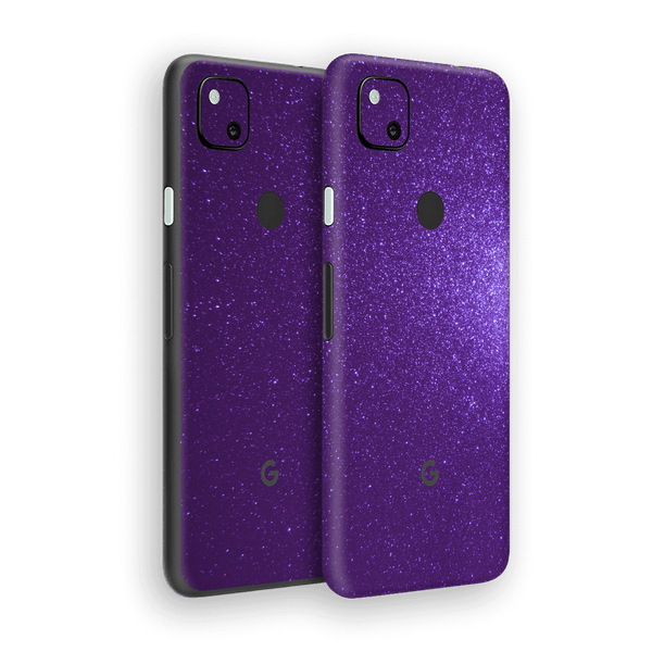 Google Pixel 4a Diamond Purple Shimmering, Sparkling, Glitter Skin Wrap Sticker Decal Cover Protector by EasySkinz