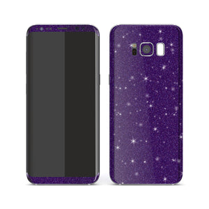 Samsung Galaxy S8 Diamond Purple Shimmering, Sparkling, Glitter Skin, Decal, Wrap, Protector, Cover by EasySkinz | EasySkinz.com
