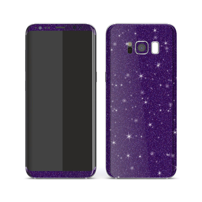 Samsung Galaxy S8+ Diamond Purple Shimmering, Sparkling, Glitter Skin, Decal, Wrap, Protector, Cover by EasySkinz | EasySkinz.com
