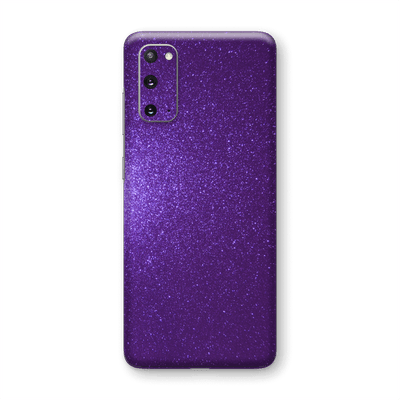 Samsung Galaxy S20 Diamond PURPLE Shimmering, Sparkling, Glitter Skin Wrap Sticker Decal Cover Protector by EasySkinz
