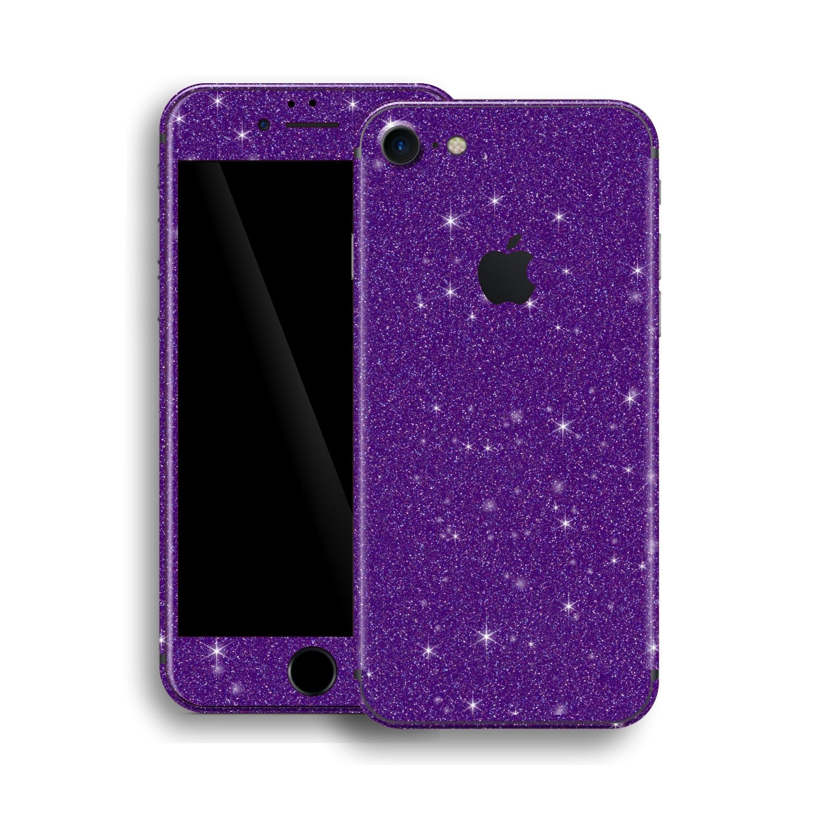 iPhone 8 Diamond PURPLE Shimmering, Sparkling, Glitter Skin, Wrap, Decal, Protector, Cover by EasySkinz | EasySkinz.com