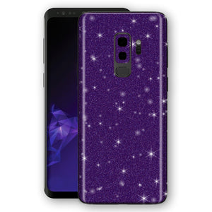 Samsung GALAXY S9+ PLUS Diamond Purple Shimmering, Sparkling, Glitter Skin, Decal, Wrap, Protector, Cover by EasySkinz | EasySkinz.com
