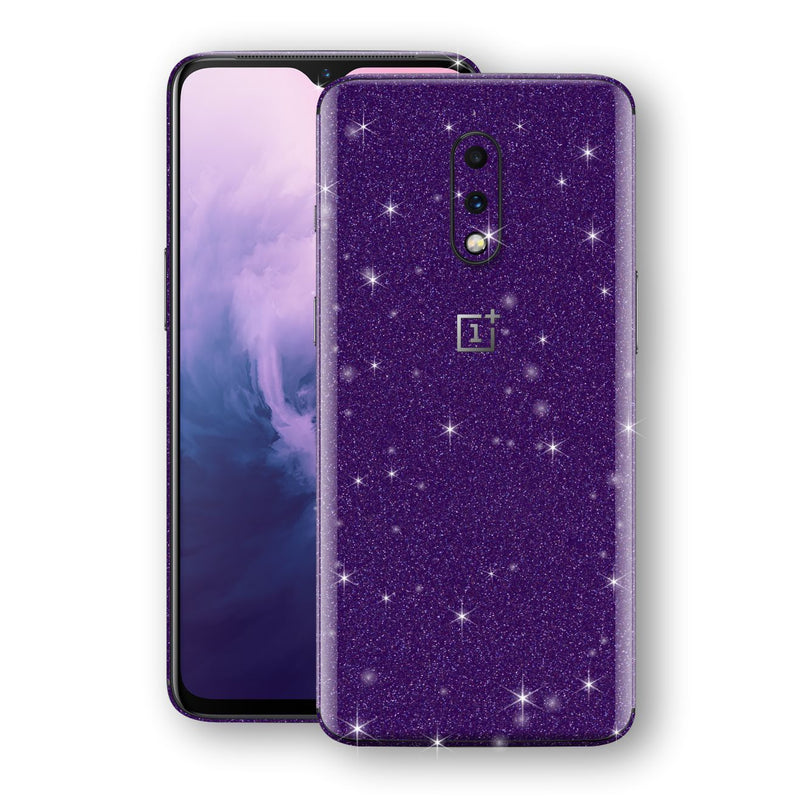 OnePlus 7 Diamond Purple Shimmering, Sparkling, Glitter Skin, Decal, Wrap, Protector, Cover by EasySkinz | EasySkinz.com