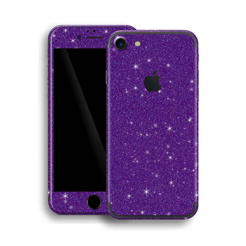 iPhone 7 Diamond PURPLE Shimmering, Sparkling, Glitter Skin, Wrap, Decal, Protector, Cover by EasySkinz | EasySkinz.com