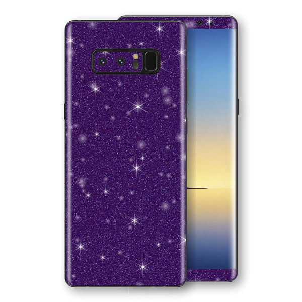 Samsung Galaxy NOTE 8 Diamond Purple Shimmering, Sparkling, Glitter Skin, Decal, Wrap, Protector, Cover by EasySkinz | EasySkinz.com
