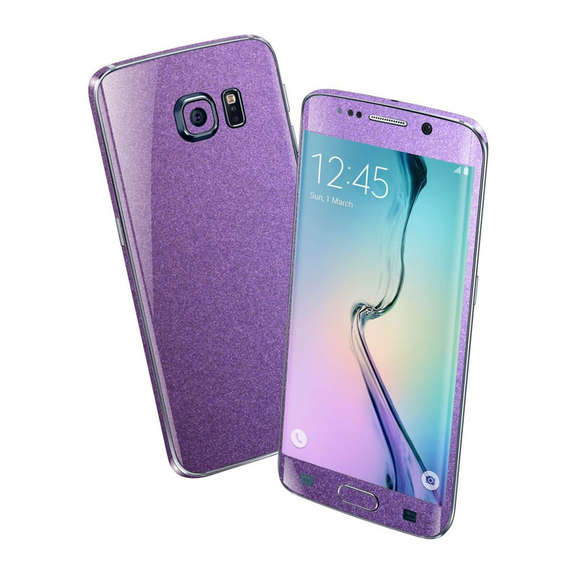 Samsung Galaxy S6 EDGE Violet Matt Matte Metallic Skin Wrap Sticker Cover Protector Decal by EasySkinz