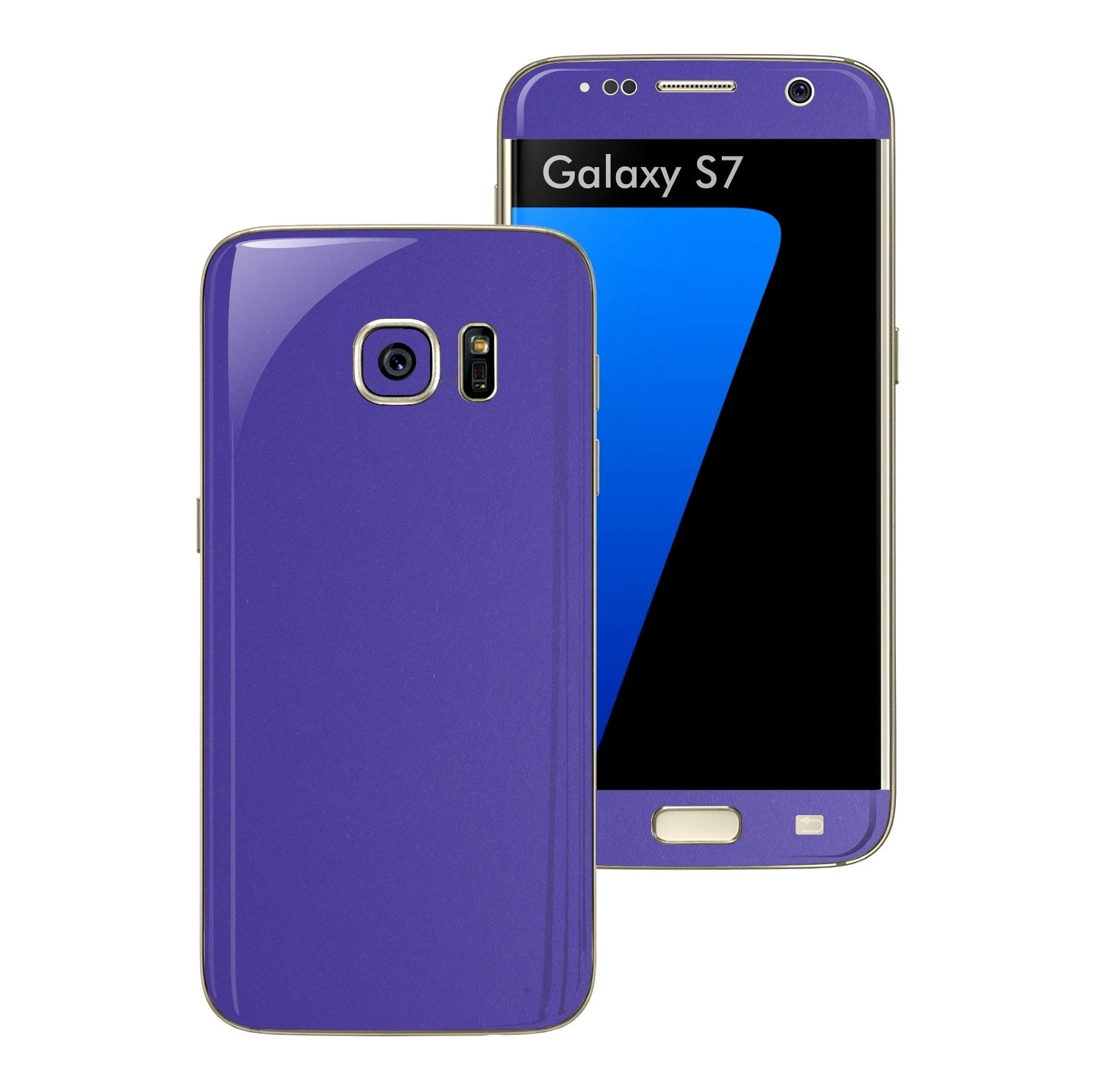 Samsung Galaxy S7 3M Royal Purple Matt Skin Wrap Decal Sticker Cover Protector by EasySkinz