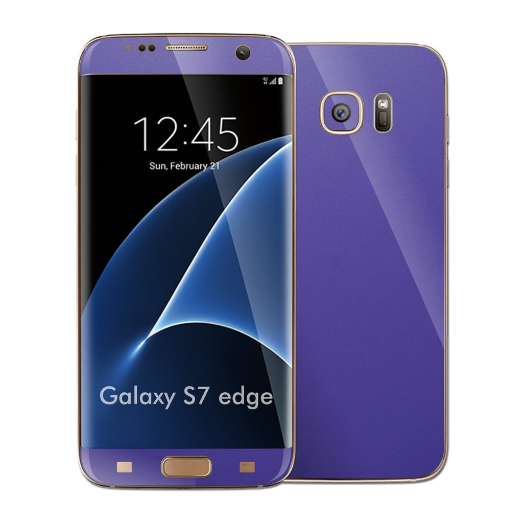 Samsung Galaxy S7 EDGE 3M Royal Purple Matt Skin Wrap Decal Sticker Cover Protector by EasySkinz