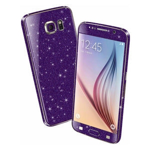 Samsung Galaxy S6 DIAMOND PURPLE Shimmering Sparkling Glitter Skin Wrap Sticker Cover Decal Protector by EasySkinz