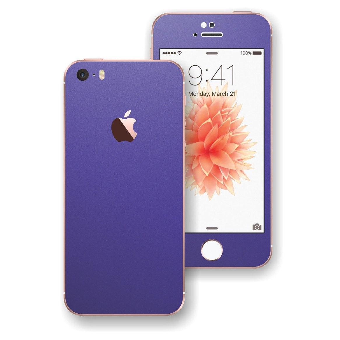 iPhone SE 3M Royal Purple Matt Matte Skin Wrap Decal Sticker Cover Protector by EasySkinz