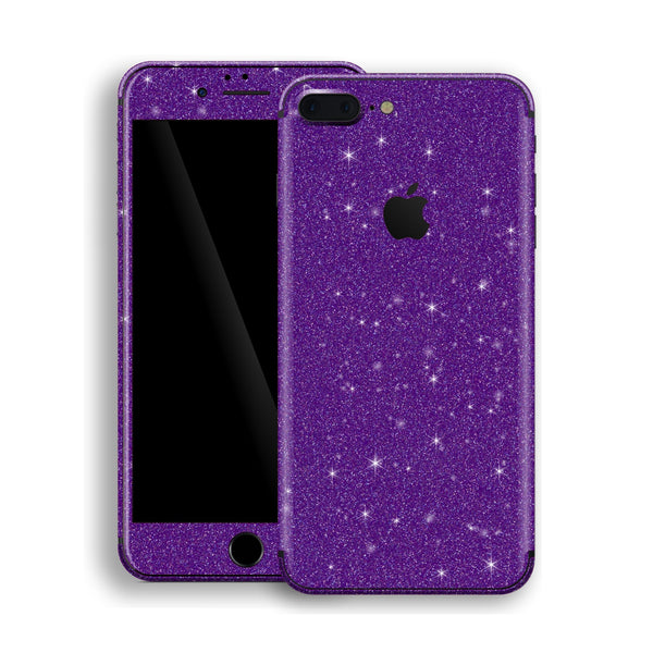iPhone 8 Plus Diamond Purple Shimmering, Sparkling, Glitter Skin, Decal, Wrap, Protector, Cover by EasySkinz | EasySkinz.com