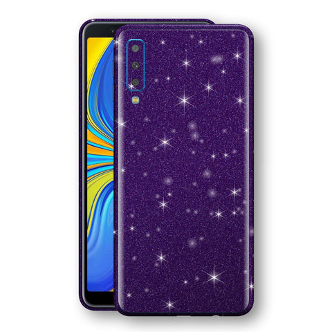Samsung Galaxy A7 (2018) Diamond Purple Shimmering, Sparkling, Glitter Skin, Decal, Wrap, Protector, Cover by EasySkinz | EasySkinz.com