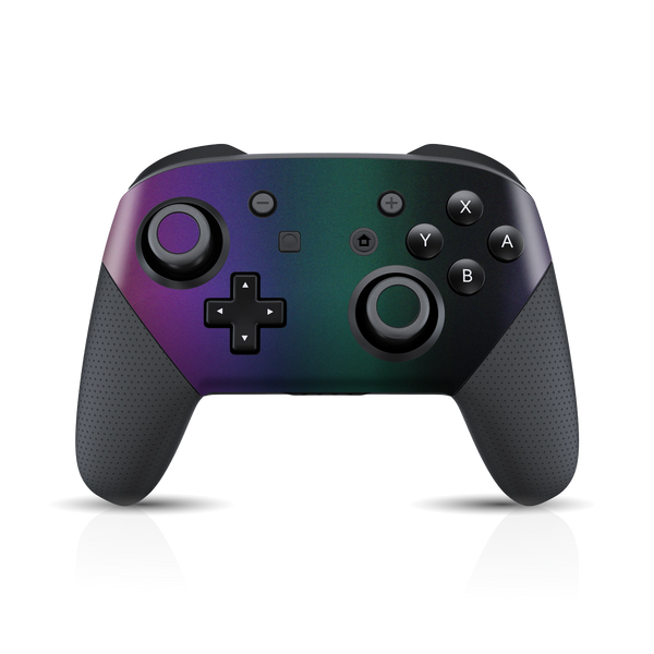 Nintendo Switch Pro Controller Chameleon DARK OPAL Colour-Changing Skin Wrap Sticker Decal Cover Protector by EasySkinz