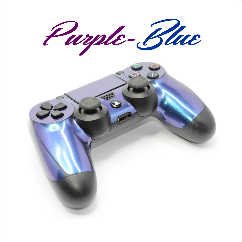 ps4 controller purple blue skin