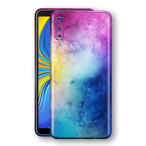 Samsung Galaxy A7 (2018) Signature Abstract Watercolour Purple Blue Skin Wrap Decal Protector | EasySkinz