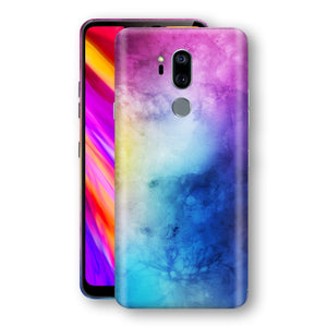 LG G7 ThinQ Signature Abstract Watercolour Purple Blue Skin Wrap Decal Protector | EasySkinz