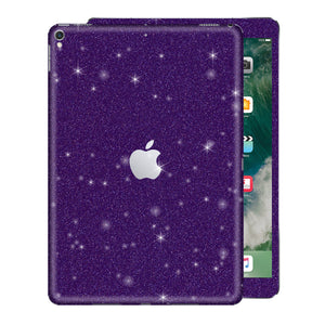 "iPad 9.7"" inch 5th Generation 2017 Diamond Purple Glitter Shimmering Skin Wrap Sticker Decal Cover Protector by EasySkinz"
