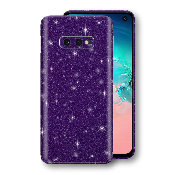 Samsung Galaxy S10e Diamond Purple Shimmering, Sparkling, Glitter Skin, Decal, Wrap, Protector, Cover by EasySkinz | EasySkinz.com