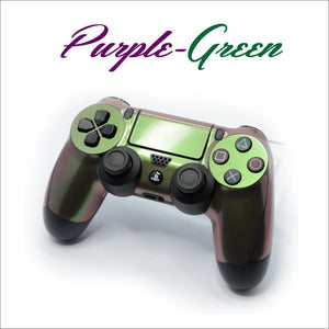 ps4 controller purple green skin