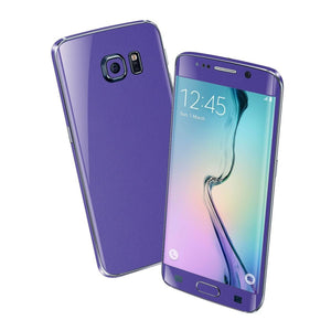 Samsung Galaxy S6 EDGE Colorful 3M Royal Purple MATT Skin Wrap Sticker Cover Protector Decal by EasySkinz