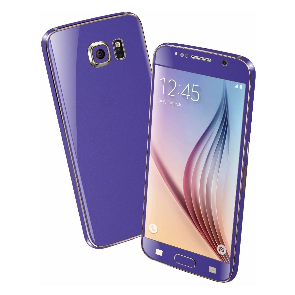 Samsung Galaxy S6 Colorful 3M Royal Purple MATT Skin Wrap Sticker Cover Protector Decal by EasySkinz