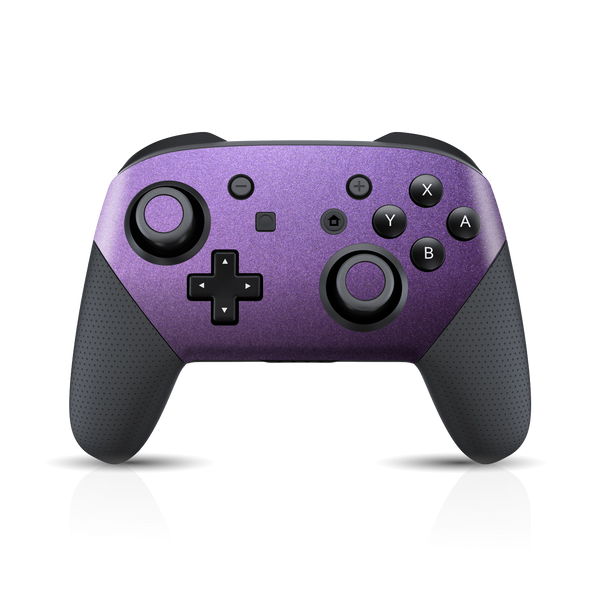 Nintendo Switch Pro CONTROLLER Matt Matte VIOLET Metallic Skin Wrap Sticker Decal Cover Protector by EasySkinz
