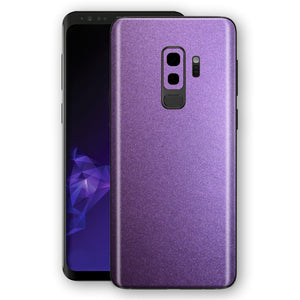 Samsung GALAXY S9+ PLUS Violet Matt Metallic Skin, Decal, Wrap, Protector, Cover by EasySkinz | EasySkinz.com