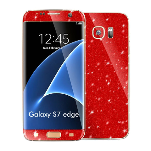 Samsung Galaxy S7 EDGE DIAMOND RED Skin Wrap Decal Sticker Cover Protector by EasySkinz