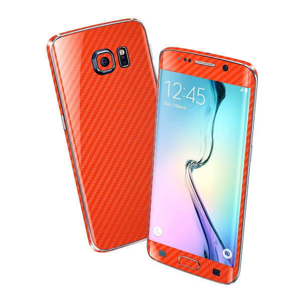 Samsung Galaxy S6 EDGE+ PLUS Red 3D CARBON Fibre Fiber Skin Wrap Sticker Cover Decal Protector by EasySkinz