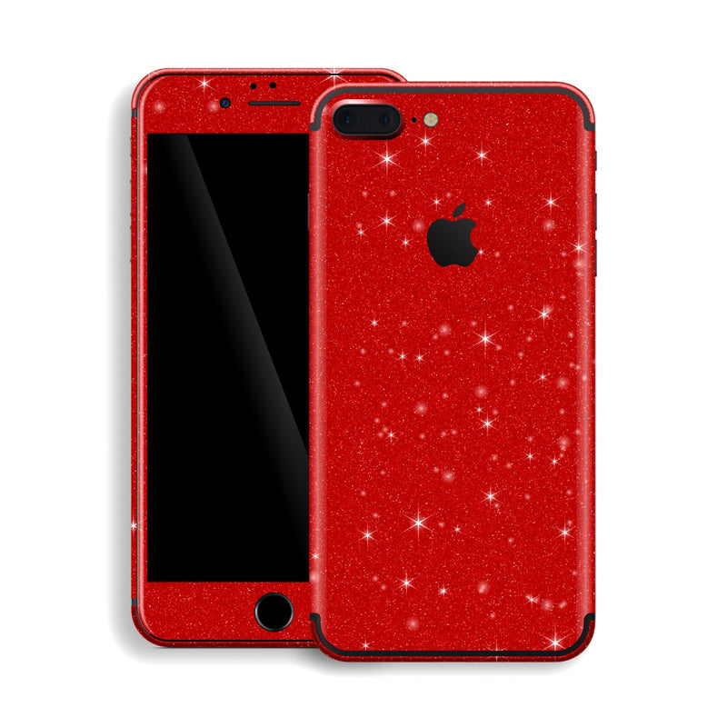 iPhone 7 Plus Diamond Red Shimmering, Sparkling, Glitter Skin, Decal, Wrap, Protector, Cover by EasySkinz | EasySkinz.com