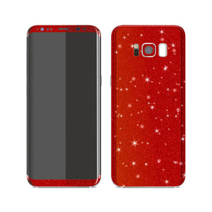 Samsung Galaxy S8 Diamond Red Shimmering, Sparkling, Glitter Skin, Decal, Wrap, Protector, Cover by EasySkinz | EasySkinz.com