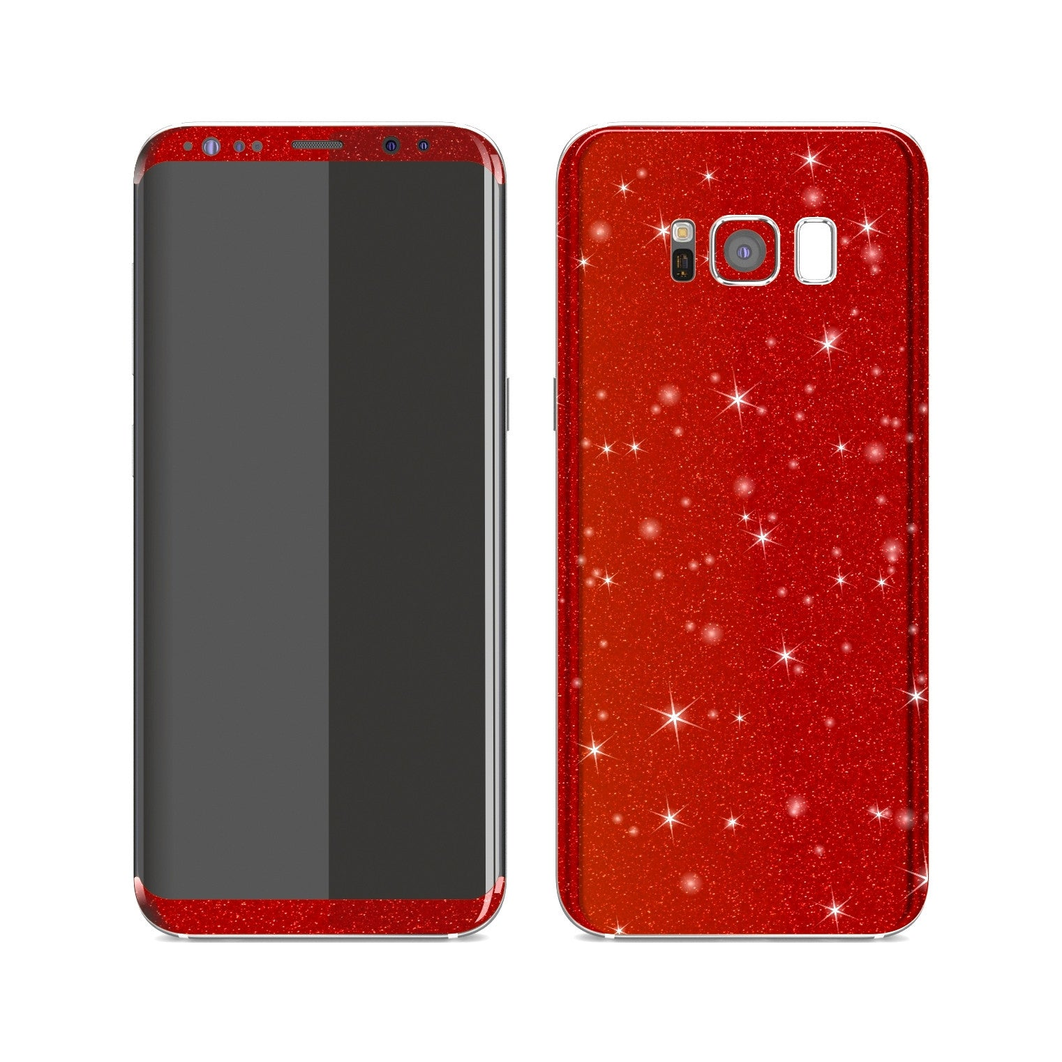 Samsung Galaxy S8+ Diamond Red Shimmering, Sparkling, Glitter Skin, Decal, Wrap, Protector, Cover by EasySkinz | EasySkinz.com