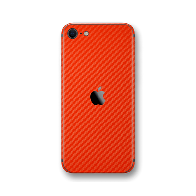 iPhone SE (2020) 3D Textured Red Carbon Fibre Fiber Skin Wrap Sticker Decal Cover Protector by EasySkinz
