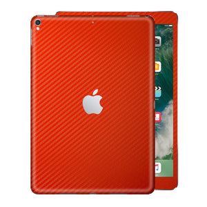 "iPad PRO 12.9"" 2nd Generation 2017 Red 3D Textured CARBON Fibre Fiber Skin Wrap Sticker Decal Cover Protector by EasySkinz"