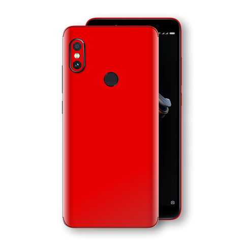 XIAOMI Redmi NOTE 5 Bright Red Glossy Gloss Finish Skin, Decal, Wrap, Protector, Cover by EasySkinz | EasySkinz.com